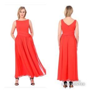 Eshakti Coral Maxi Dress